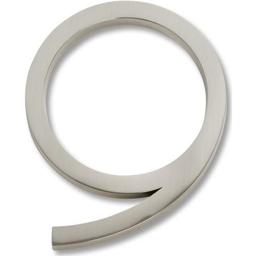 Atlas Homewares AT-AVN9-BRN  Avalon - Outside Hardware Brushed Nickel House Number - KnobDepot.com