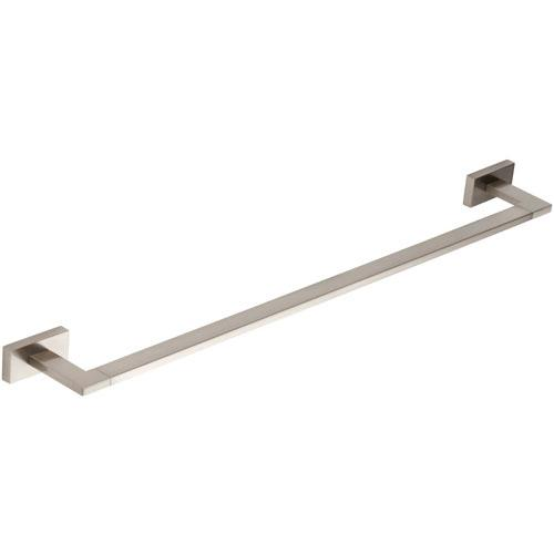 Atlas Homewares AT-AXTB450-BRN  Axel - Bath Brushed Nickel Towel Bar - Knob Depot