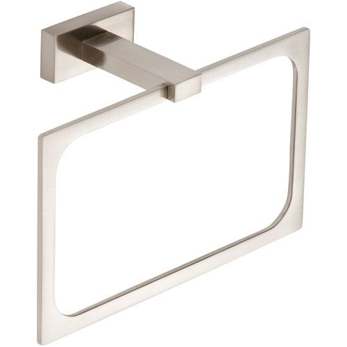 Atlas Homewares AT-AXTR-BRN  Axel - Bath Brushed Nickel Towel Ring - Knob Depot