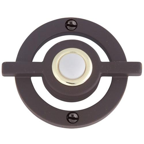 Atlas Homewares AT-DB643-O  Avalon - Outside Hardware Aged Bronze Door Bell - Knob Depot