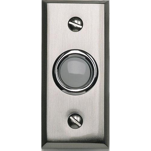 Atlas Homewares AT-DB644-BRN  Mission - Outside Hardware Brushed Nickel Door Bell - KnobDepot.com