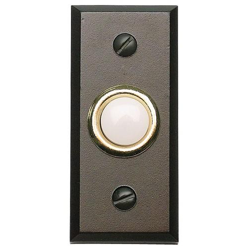 Atlas Homewares AT-DB644-O  Mission - Outside Hardware Aged Bronze Door Bell - Knob Depot