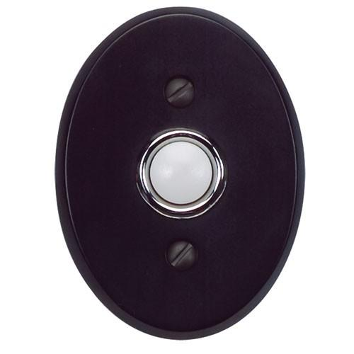 Atlas Homewares AT-DB646-BL  Traditionalist - Outside Hardware Black Door Bell - KnobDepot.com