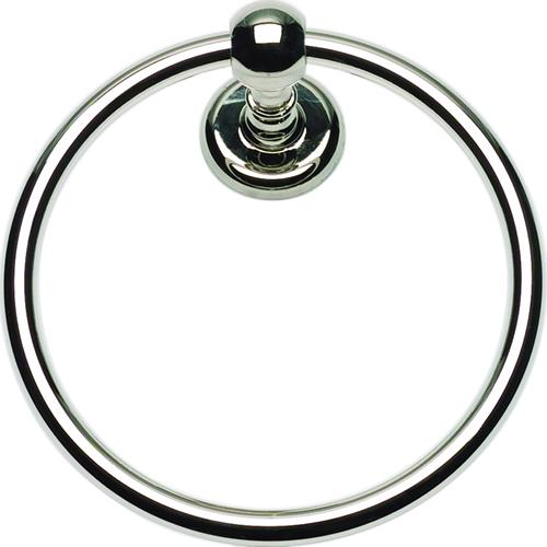Atlas Homewares AT-EMMTR-PN  Emma - Bath Polished Nickel Towel Ring - Knob Depot