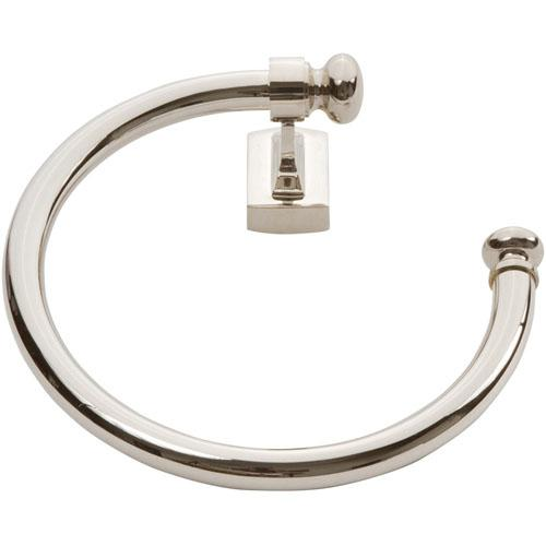 Atlas Homewares AT-LGTR-PN  Legacy - Bath Polished Nickel Towel Ring - KnobDepot.com