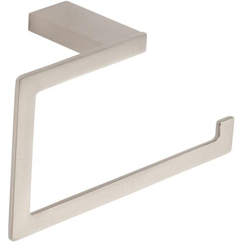 Atlas Homewares AT-PATR-BRN  Parker - Bath Brushed Nickel Towel Ring - KnobDepot.com