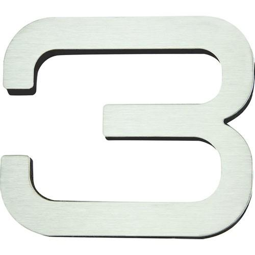 Atlas Homewares AT-PGN3-SS  Paragon - Outside Hardware Stainless Steel House Number - KnobDepot.com