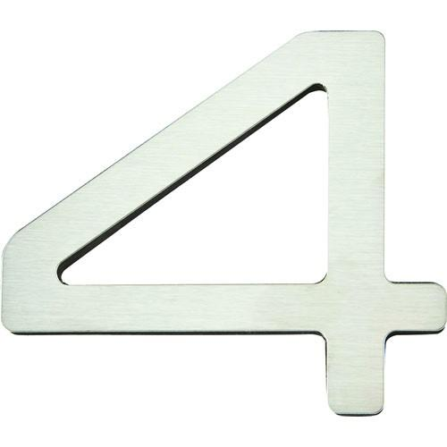 Atlas Homewares AT-PGN4-SS  Paragon - Outside Hardware Stainless Steel House Number - KnobDepot.com