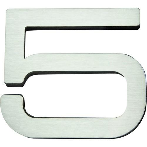 Atlas Homewares AT-PGN5-SS  Paragon - Outside Hardware Stainless Steel House Number - KnobDepot.com