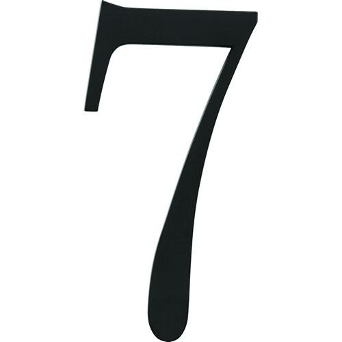 Atlas Homewares AT-TRN7-BL  Traditionalist - Outside Hardware Black House Number - Knob Depot