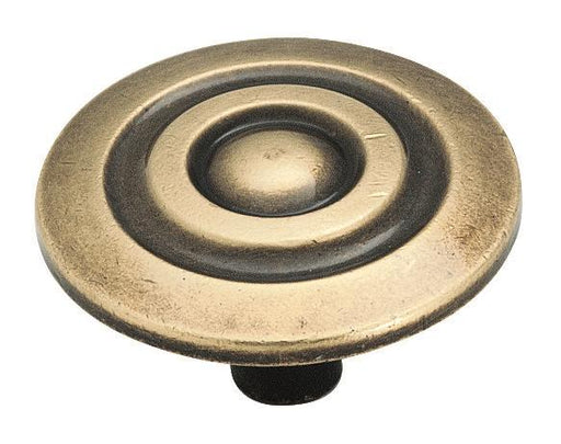 Amerock A-BP594AE Allison Antique Brass Large Knob - Knob Depot