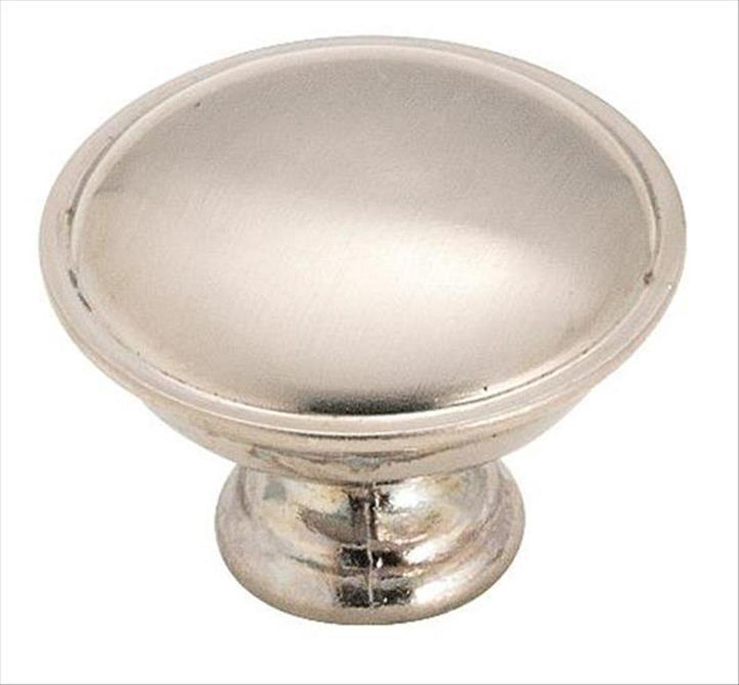 Amerock A-14403-SCH Allison Brushed Chrome Round Knob - KnobDepot.com