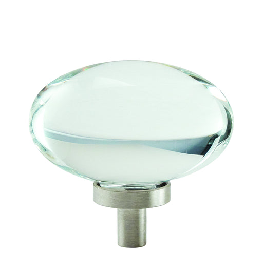 Amerock A-BP36651CG10 Glacio Clear/Satin Nickel  Oval Knob - Knob Depot