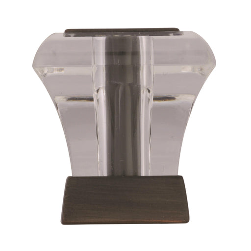 Amerock A-BP29460-CORB Abernathy Glass & Oil-Rubbed Bronze Square Knob - KnobDepot.com
