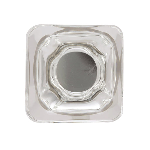 Amerock A-BP36653CG10 Glacio Clear/Satin Nickel  Square Knob - Knob Depot