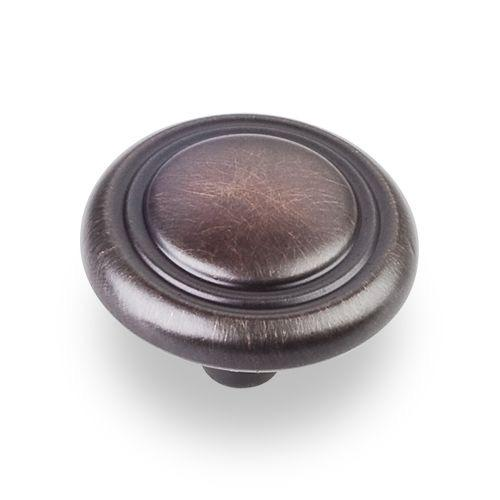 Elements E-202DBAC Vienna Brushed Oil Rubbed Bronze Round Knob - Knob Depot