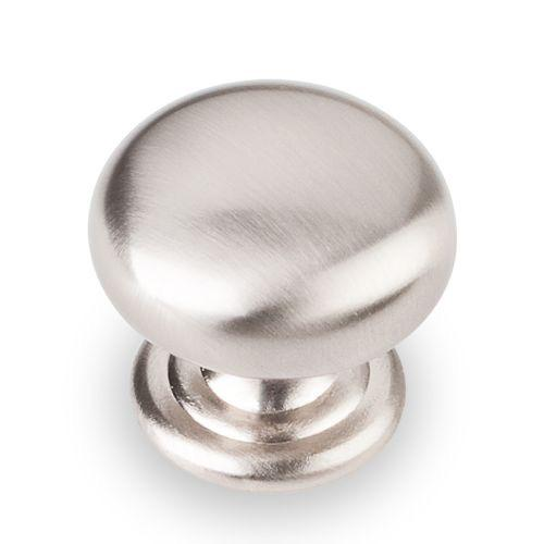 Elements E-2980SN Florence Satin Nickel Round Knob - KnobDepot.com