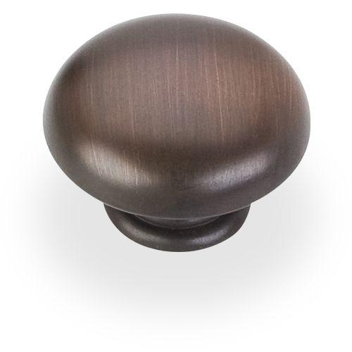Elements E-3950-DBAC Gatsby Brushed Oil Rubbed Bronze Round Knob - KnobDepot.com