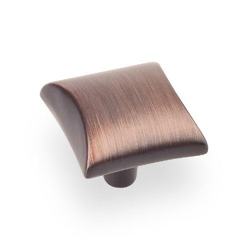 Elements E-525DBAC Glendale Brushed Oil Rubbed Bronze Square Knob - KnobDepot.com