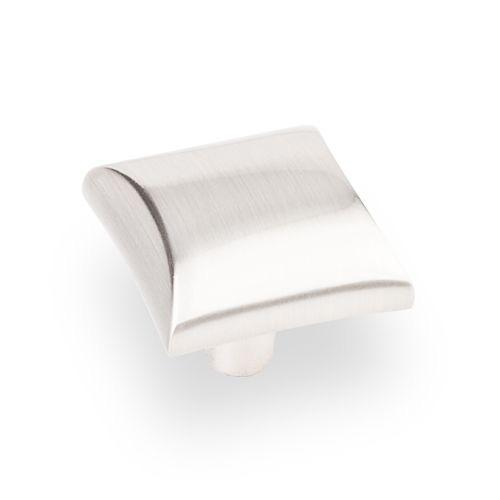 Elements E-525SN Glendale Satin Nickel Square Knob - Knob Depot