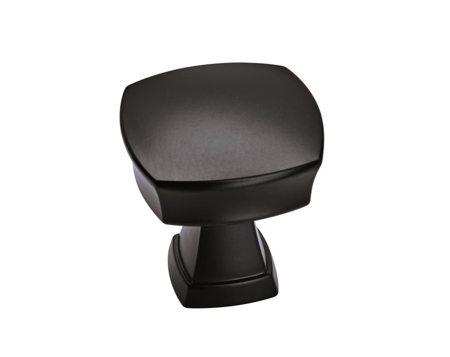 Amerock A-BP11287FB Allison Value Hardware Matte Black Square Knob - Knob Depot