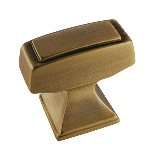 Amerock A-BP53029-GB Mulholland Gilded Bronze Rectangular Knob - KnobDepot.com