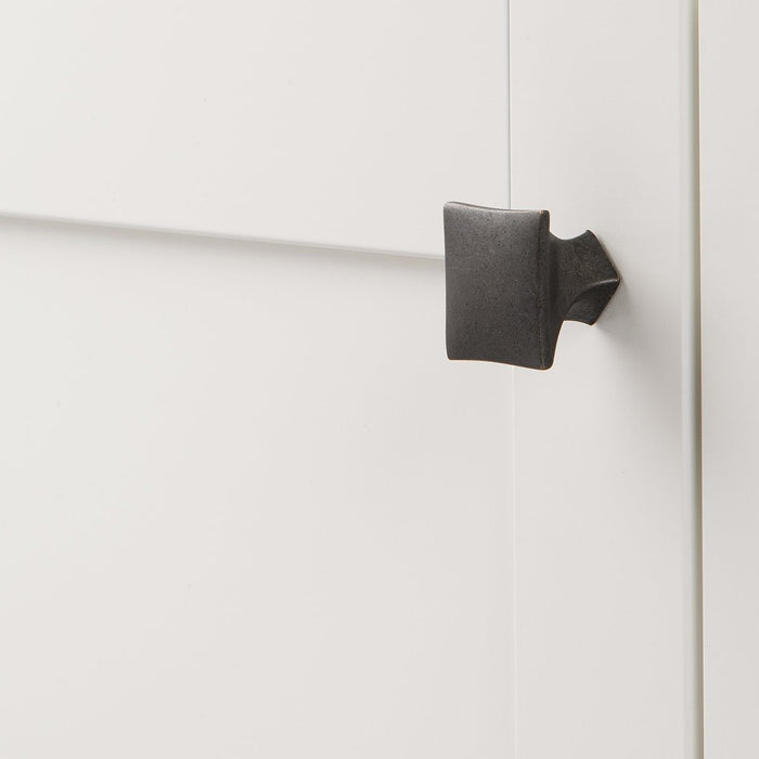 Hickory Hardware H-H076014-BI Contemporary/Twist Black Iron Square Knob