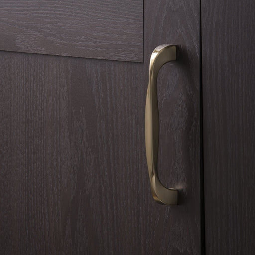 Hickory Hardware H-H076017-EGN Contemporary/Twist Elusive Golden Nickel D-Pull - KnobDepot.com