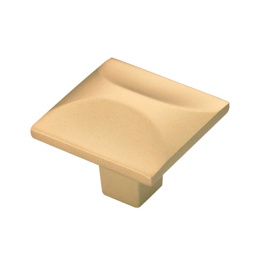 Hickory Hardware H-H076127-FUB Contemporary/Crest Flat Ultra Brass Square Knob
