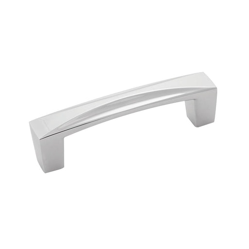 Hickory Hardware H-H076129-CH Contemporary/Crest Chrome D-Pull - KnobDepot.com
