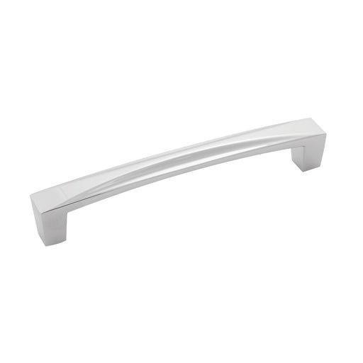 Hickory Hardware H-H076131-CH Contemporary/Crest Chrome D-Pull - KnobDepot.com
