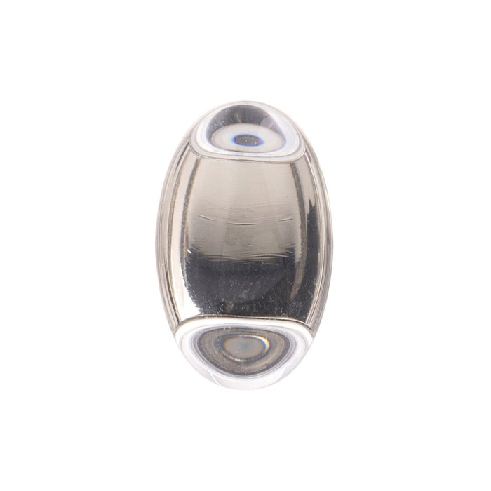 Hickory Hardware H-HH075852-GLSN Contemporary/Gemstone Glass & Satin Nickel Oval Knob - Knob Depot