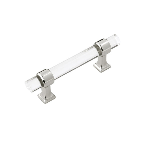 Hickory Hardware H-HH075857-CA14 Traditional/Crystal Palace Crysacrylic & Bright Nickel Standard Pull - KnobDepot.com