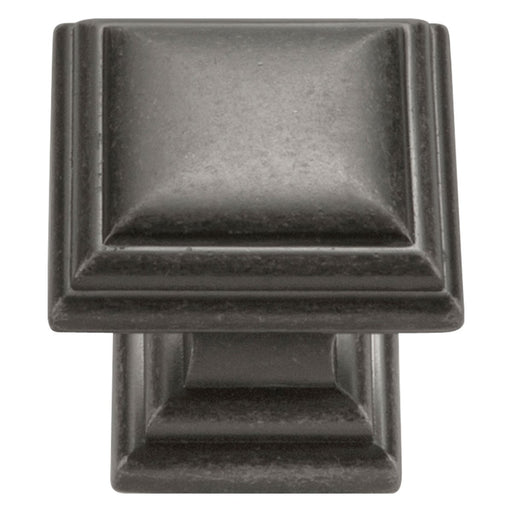 Hickory Hardware H-HH74554-BNV Traditional/Somerset Black Nickel Vibed Square Knob - Knob Depot