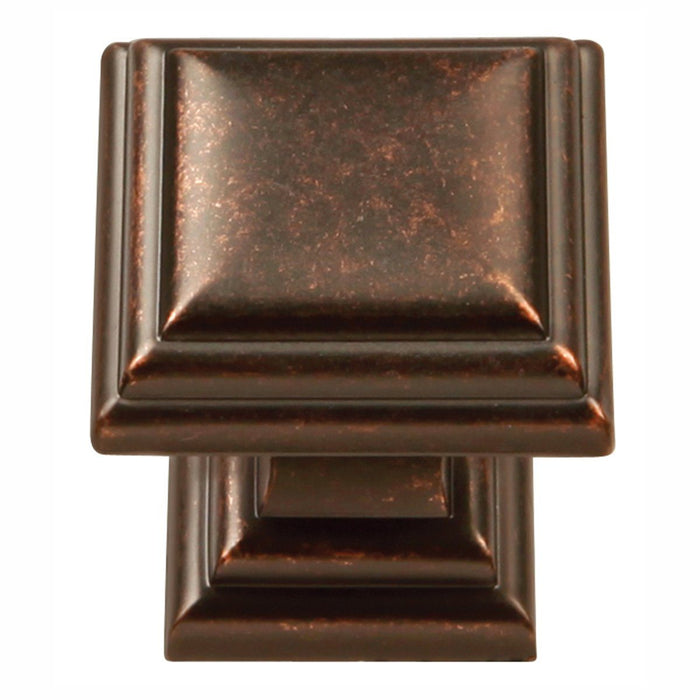 Hickory Hardware H-HH74554-DAC Traditional/Somerset Dark Antique Copper Square Knob - Knob Depot