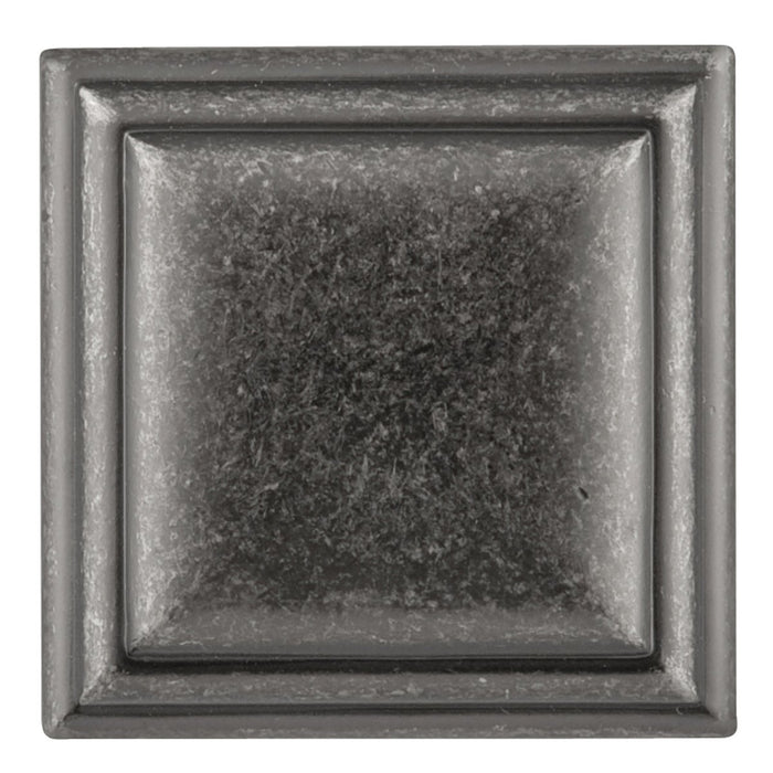 Hickory Hardware H-HH74639-BNV Traditional/Somerset Black Nickel Vibed Square Knob - Knob Depot