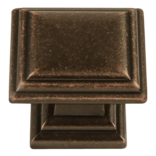 Hickory Hardware H-HH74639-DAC Traditional/Somerset Dark Antique Copper Square Knob - Knob Depot