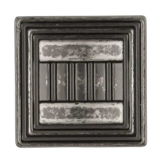 Hickory Hardware H-HH74679-BNV Traditional/Sydney Black Nickel Vibed Square Knob - Knob Depot