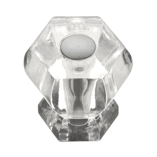 Hickory Hardware H-HH74688-CA14 Traditional/Crystal Palace Crysacrylic & Bright Nickel Round Knob - KnobDepot.com