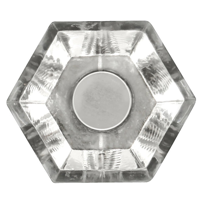 Hickory Hardware H-HH74688-CA14 Traditional/Crystal Palace Crysacrylic & Bright Nickel Round Knob