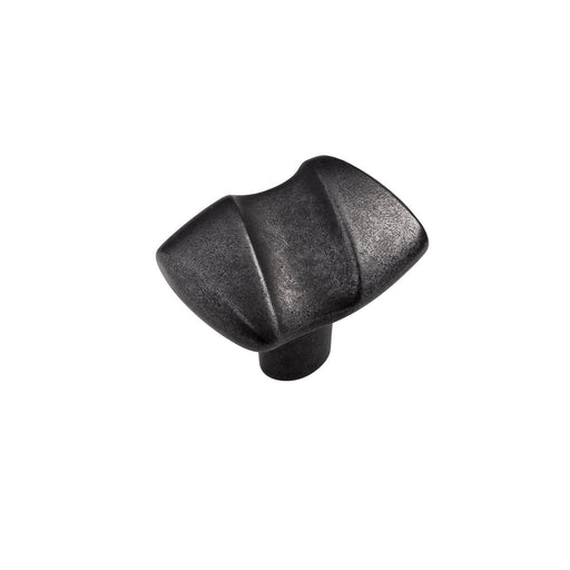 Hickory Hardware H-HH74729-BI Contemporary/Serendipity Black Iron Rectangular Knob - KnobDepot.com