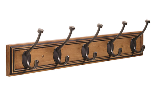 Amerock A-HR55662HORB Decorative Hooks Honey Pine/Oil-Rubbed Bronze Hook Rack - Knob Depot