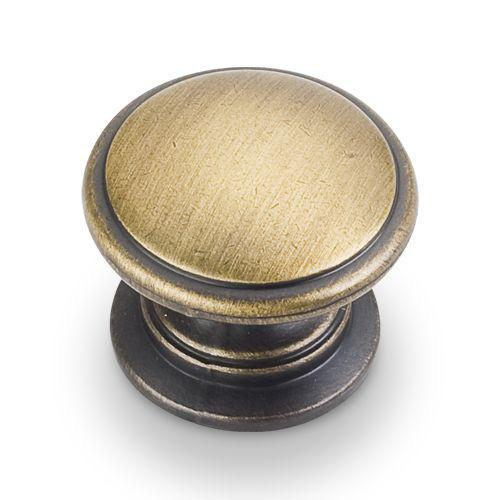 Jeffrey Alexander JA-3980-ABSB Durham Antique Brushed Satin Brass Round Knob - Knob Depot