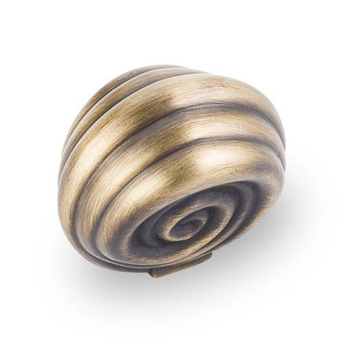 Jeffrey Alexander JA-415ABSB Lille Antique Brushed Satin Brass Round Knob - Knob Depot