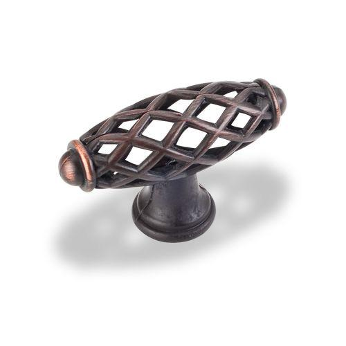 Jeffrey Alexander JA-749DBAC Tuscany Brushed Oil Rubbed Bronze Elongated Knob - KnobDepot.com