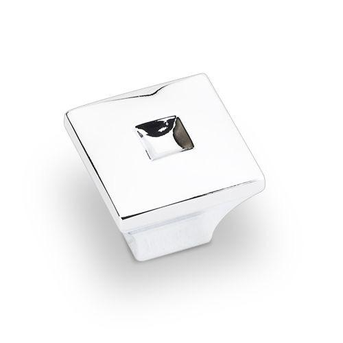 Jeffrey Alexander JA-910S-PC Modena Polished Chrome Square Knob - KnobDepot.com
