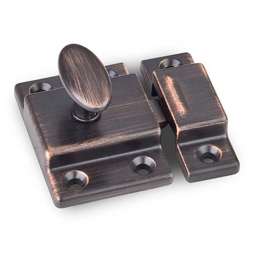 Jeffrey Alexander JA-CL101-DBAC Latches Brushed Oil Rubbed Bronze Catch or Latch - KnobDepot.com