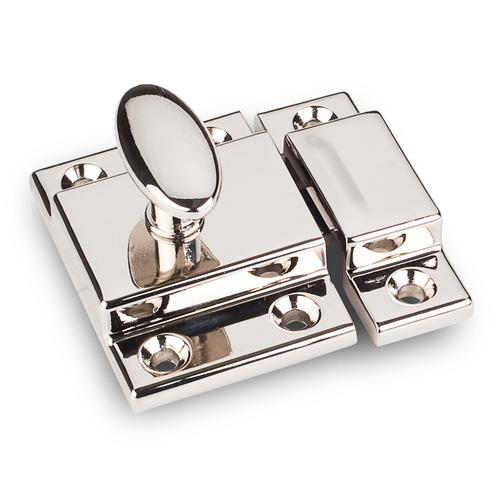 Jeffrey Alexander JA-CL101-NI Latches Polished Nickel Catch or Latch - Knob Depot
