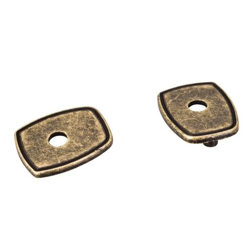 Jeffrey Alexander JA-PE07-ABM-D Pull Escutcheons Distressed Antique Brass Escutcheon - Knob Depot