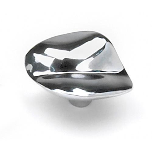 Laurey L-15826 Pacifica Polished Chrome Oval Knob - KnobDepot.com